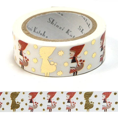 Kawaii washi tape - precious red hood tracing paper tape by Shinzi Katoh