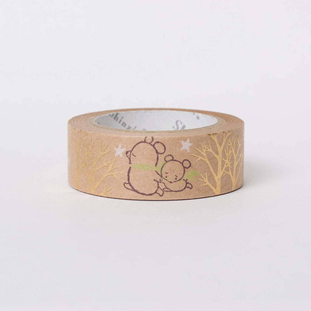 Japanese kraft paper washi tape - bears by Shinzi Katoh
