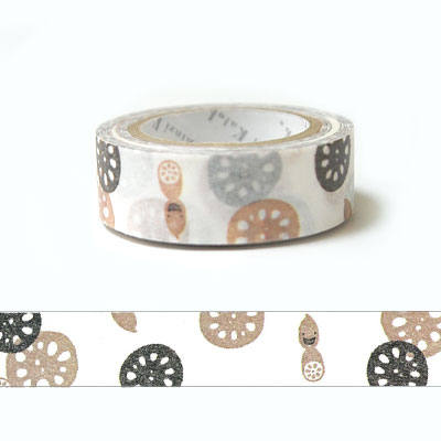 Kawaii Japanese washi tape - lotus root by Shinzi Katoh