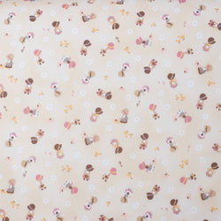 Kawaii Japanese Fabric by Cosmo - Cotton Broadcloth - Country Home in Cream - 1/2 YD