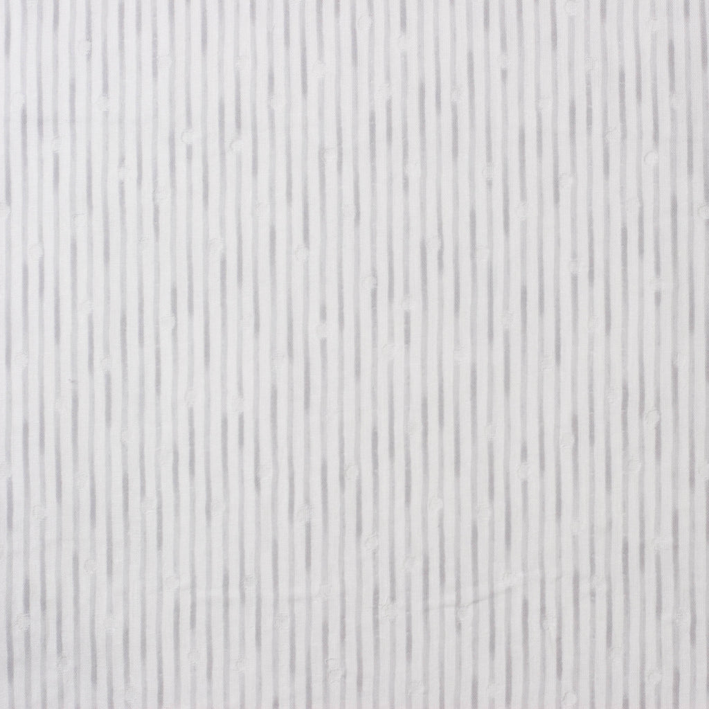 Kokka Tsumiki Japanese double gauze fabric with gray stripes - 1/2 YD