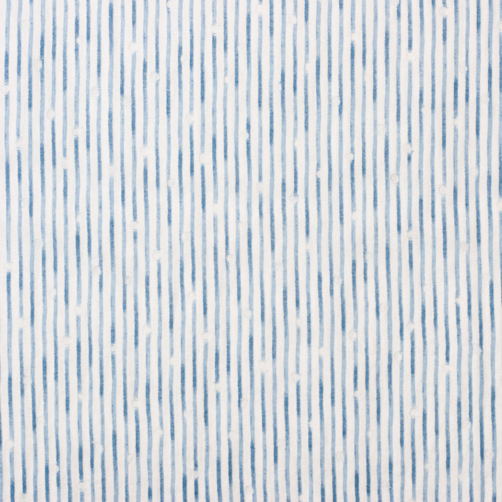 Kokka Tsumiki Japanese double gauze fabric with blue stripes - 1/2 YD