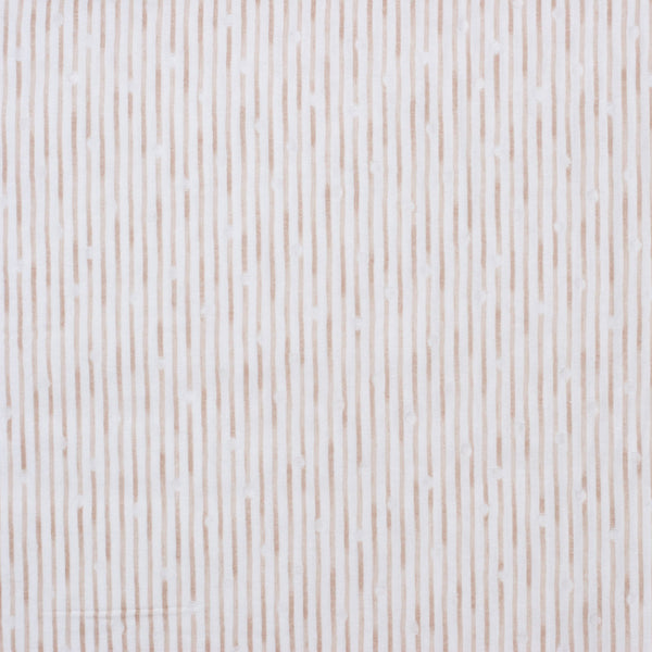 Kokka Tsumiki Japanese double gauze fabric with beige stripes - 1/2 YD