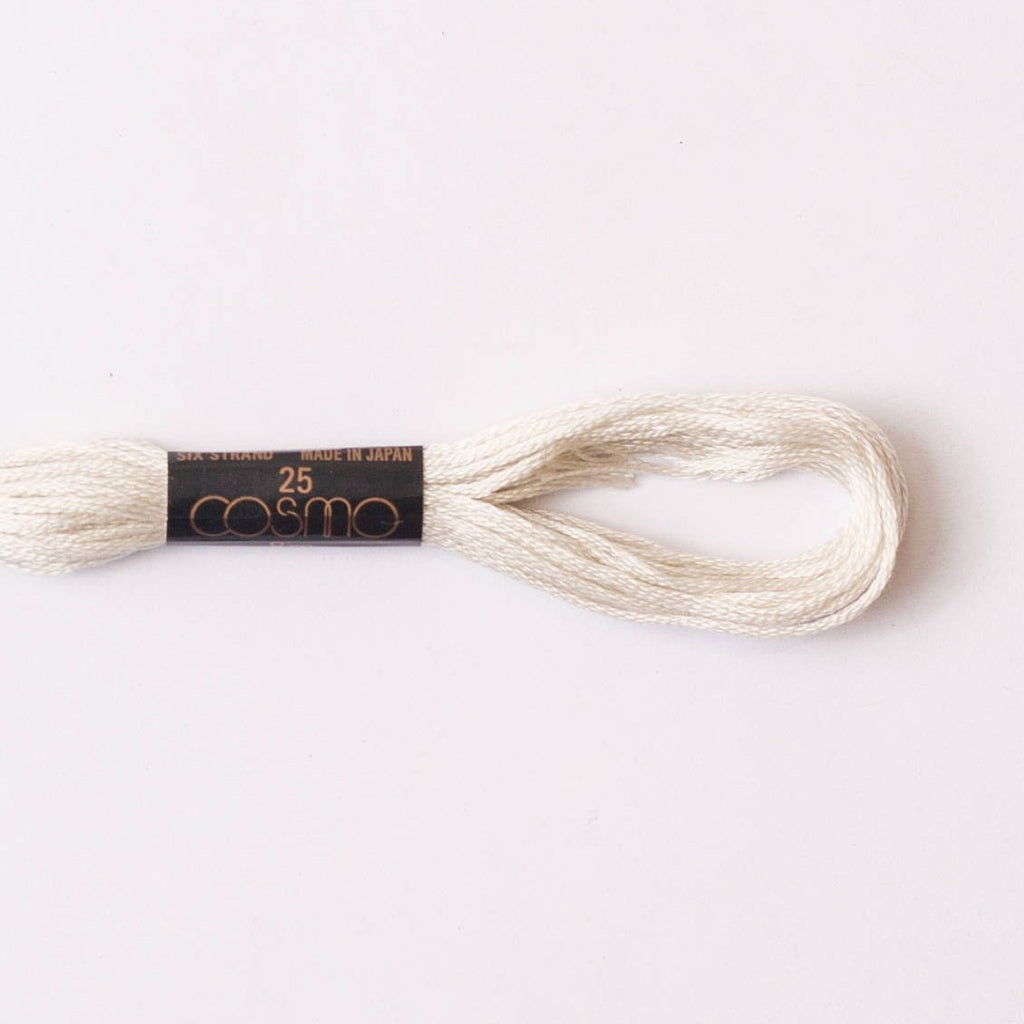 Cosmo  embroidery floss - oatmeal #151 - 8m skein - 6 strands - size 25