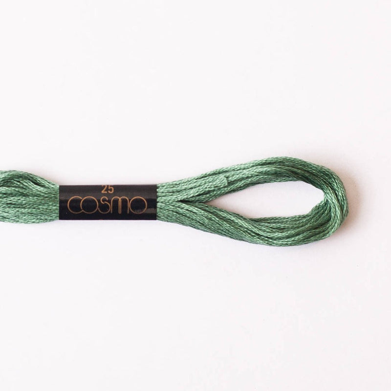 Cosmo  embroidery floss - elm green #2535 - 8m skein - 6 strands - size 25