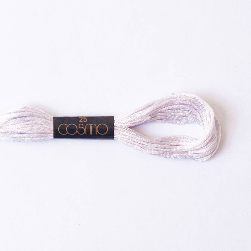 Cosmo embroidery floss - misty lilac #551 - 8m skein - 6 strands - size 25