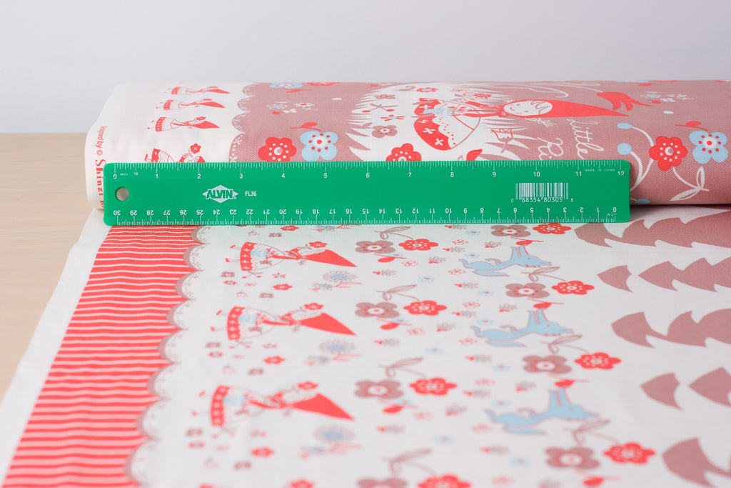 Shinzi Katoh | Japanese fabric - kawaii fabric - Red Riding Hood - oxford cotton - 1/2 YD