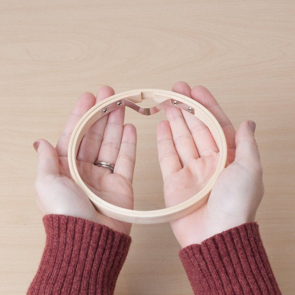 12 cm / 5 in wooden embroidery hoop by Lecien COSMO
