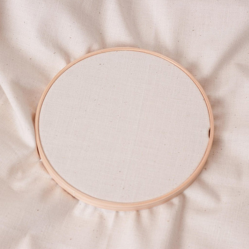 Embroidery fabric - natural - 50cm x 45cm precut - by COSMO / Lecien Japan