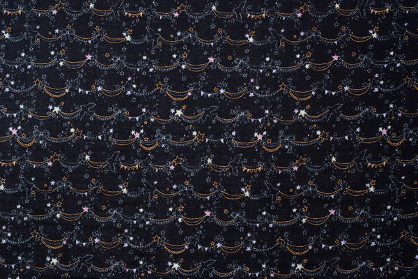 Kokka | Japanese double gauze fabric - Trefle - stars and pennant banners - 1/2 YD