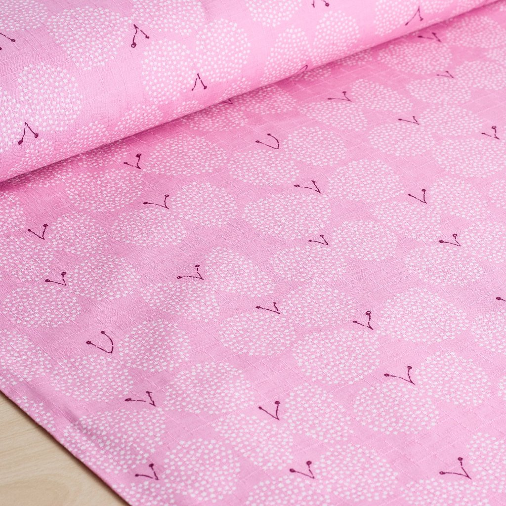 Japanese cotton dobby butterfly fabric in pink by Kobayashi - 1/2 YD