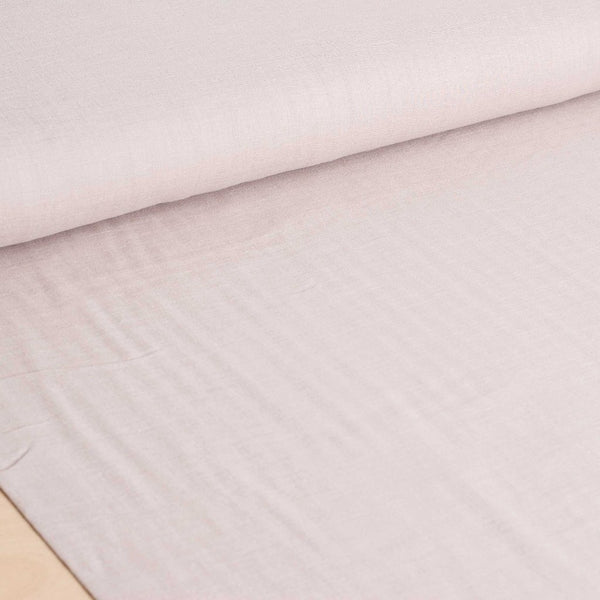 Kokka | Japanese plain solid double gauze fabric in beige - 1/2 YD