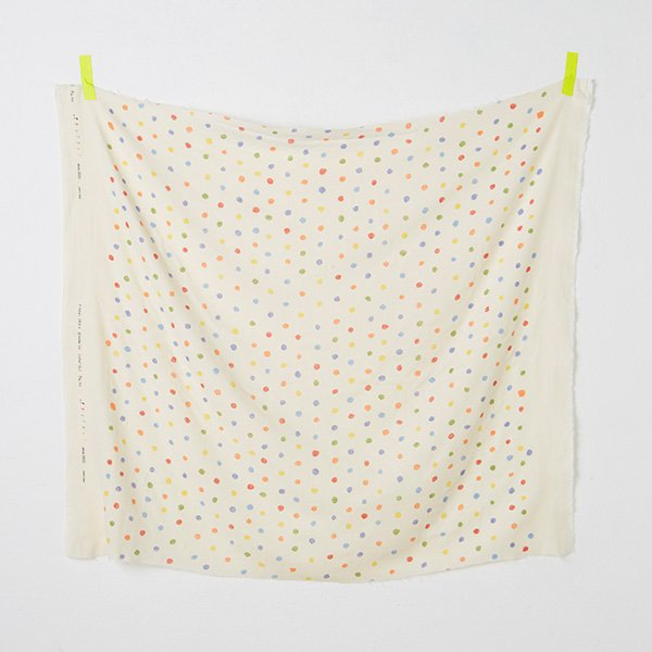 nani IRO | Japanese fabric - Colorful Pocho - wata cotton double gauze - polka dots - 1/2 YD