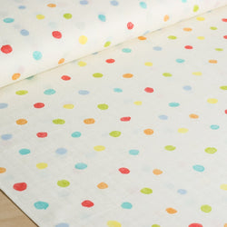 nani IRO | Japanese fabric - Colorful Pocho - Harmonic - cotton double gauze polka dots - 1/2 YD
