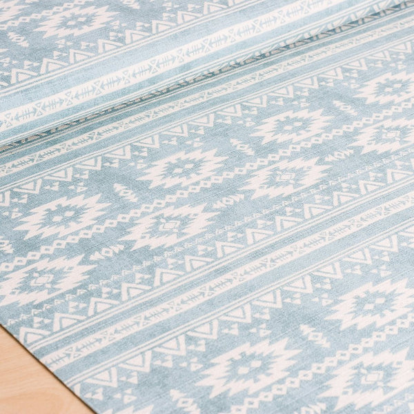 Japanese fabric - Kokka Trefle - blue and white cotton barkcloth fabric - 1/2 YD