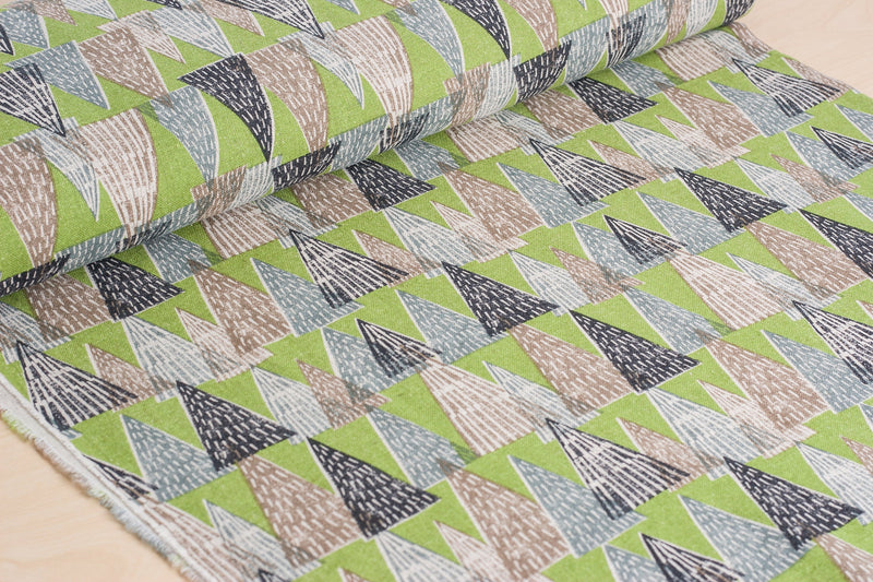 Hokkoh Japanese tree fabric in cotton and linen plain weave - 1/2 YD