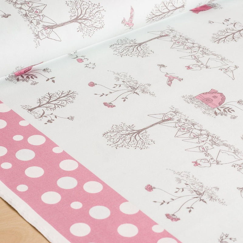 Shinzi Katoh | Japanese fabric - kawaii fabric - Snow White - oxford cotton - pink - 1/2 YD