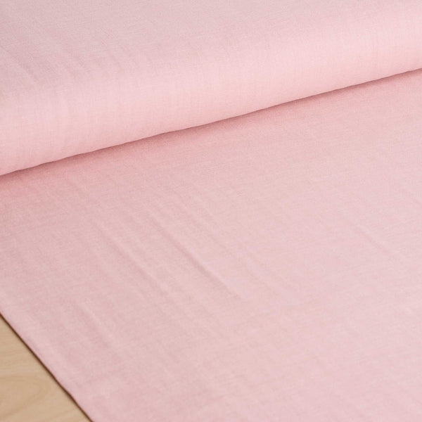 Kokka | Japanese plain solid double gauze fabric in pink - 1/2 YD