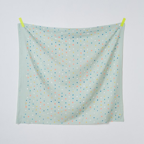 nani IRO | Colorful Pocho - Japanese fabric - mint cotton wata double gauze - 1/2 YD