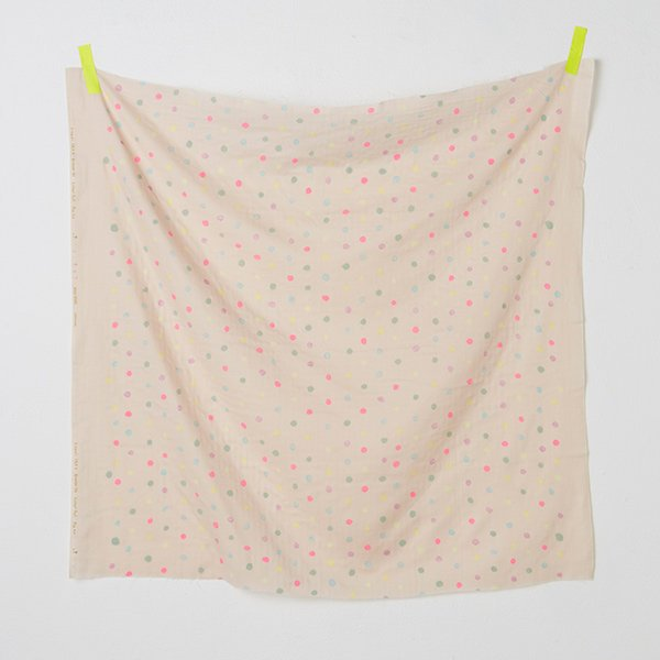 nani IRO | Colorful Pocho - Japanese fabric - pink cotton wata double gauze - 1/2 YD
