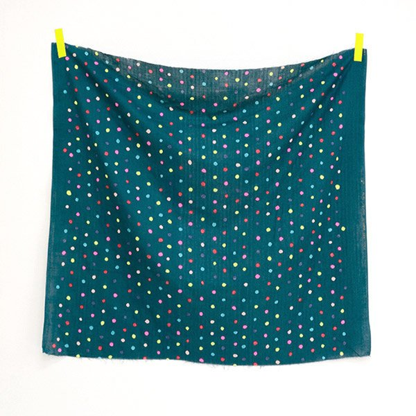 nani IRO | Colorful Pocho - Japanese fabric - teal cotton wata double gauze - 1/2 YD