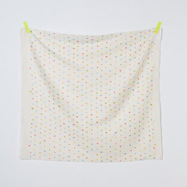 nani IRO | Colorful Pocho - Japanese fabric - white cotton wata double gauze - 1/2 YD
