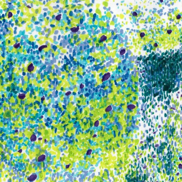 nani IRO | Birds Eye 2018 - Japanese fabric - green and blue wata double gauze - 1/2 YD
