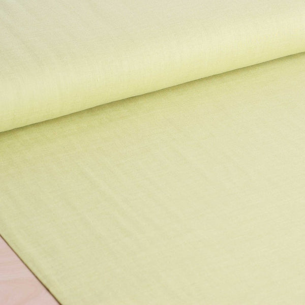 Kokka | Japanese plain solid double gauze fabric in lime - 1/2 YD