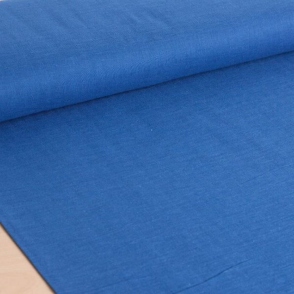 Kokka | Japanese plain solid double gauze fabric in blue - 1/2 YD