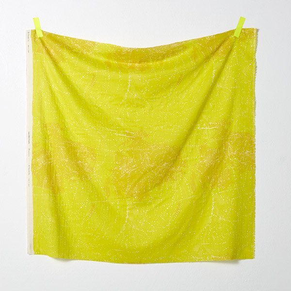 nani IRO | Planet - Japanese fabric - yellow cotton wata double gauze - 1/2 YD
