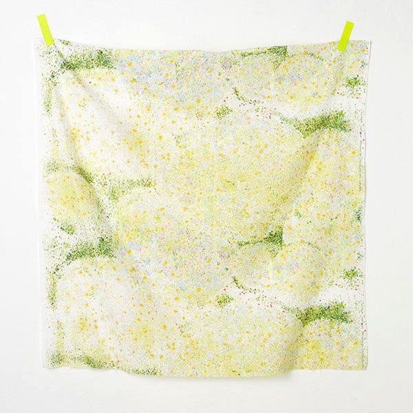 nani IRO | Birds Eye 2018 - Japanese fabric - green and yellow wata double gauze - 1/2 YD