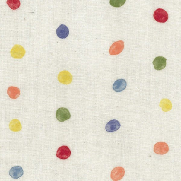 nani IRO | Colorful Pocho - Japanese fabric - white rainbow cotton wata double gauze - 1/2 YD