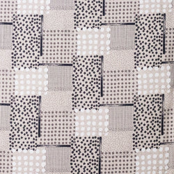 Japanese fabric by Hokkoh - geometric polka dots - black and white - 1/2 YD