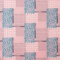 Japanese fabric by Hokkoh - geometric polka dots - pink - 1/2 YD