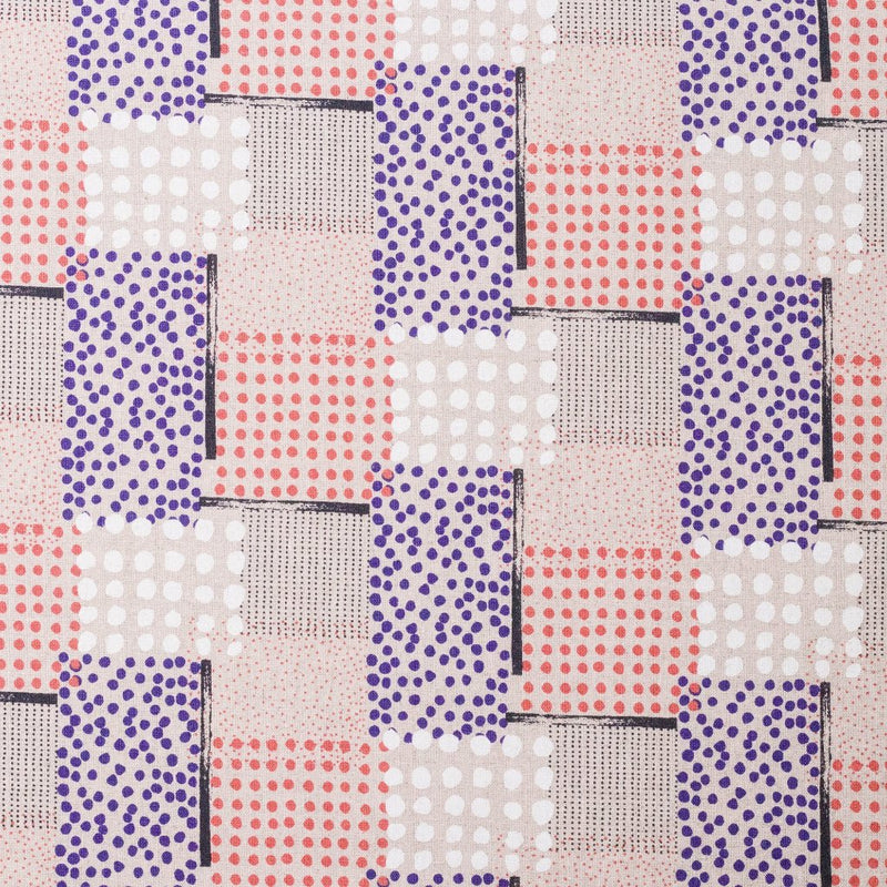 Japanese fabric by Hokkoh - geometric polka dots - purple - 1/2 YD