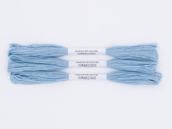 Temaricious #B19 - hand dyed embroidery thread - blue - single 12.5m cotton skein
