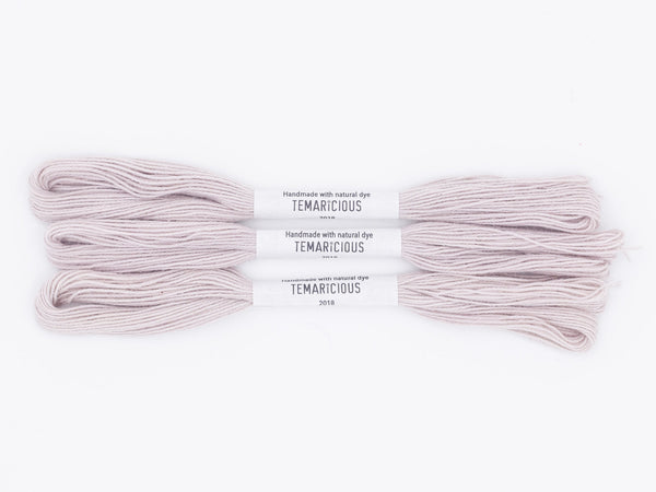 Temaricious #P4 - hand dyed embroidery thread - pale purple - single 12.5m cotton skein