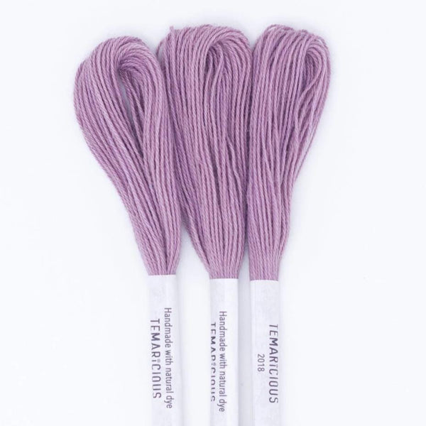 Temaricious #P12 - hand dyed embroidery thread - lavender purple - single 12.5m cotton skein
