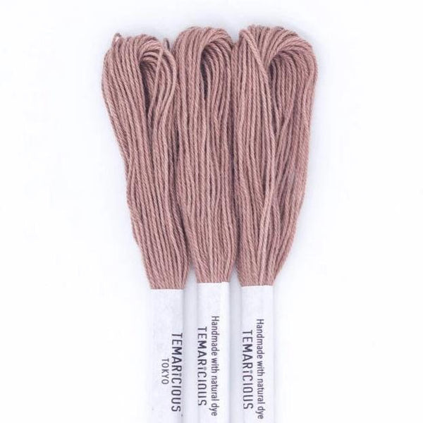 Temaricious #E10 - hand dyed embroidery thread - brown - single 12.5m cotton skein