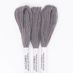 Temaricious #E14 - hand dyed embroidery thread - brown gray - single 12.5m cotton skein