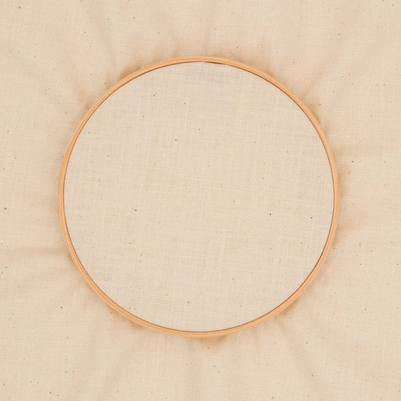 Plain embroidery fabric - ivory / natural - 35cm x 52cm precut - by COSMO / Lecien Japan