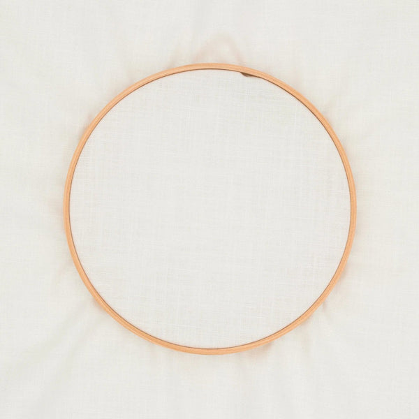 Plain embroidery fabric - white - 35cm x 52cm precut - by COSMO / Lecien Japan
