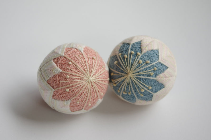 DIY temari ball kit by Temaricious - Peach Blossom - Pink or Blue