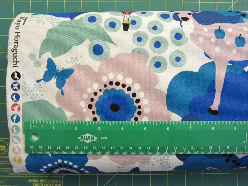 Japanese fabric by Kiyohara - oxford cotton fabric - 1/2 YD