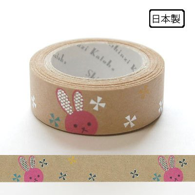 Japanese masking tape in kraft paper - rabbit by Shinzi Katoh
