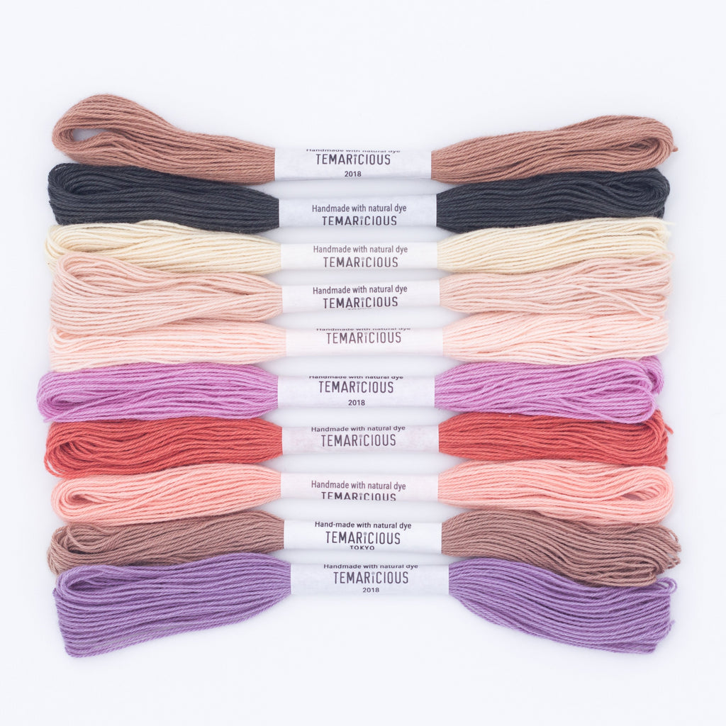 Temaricious Macaron Party hand dyed embroidery thread set