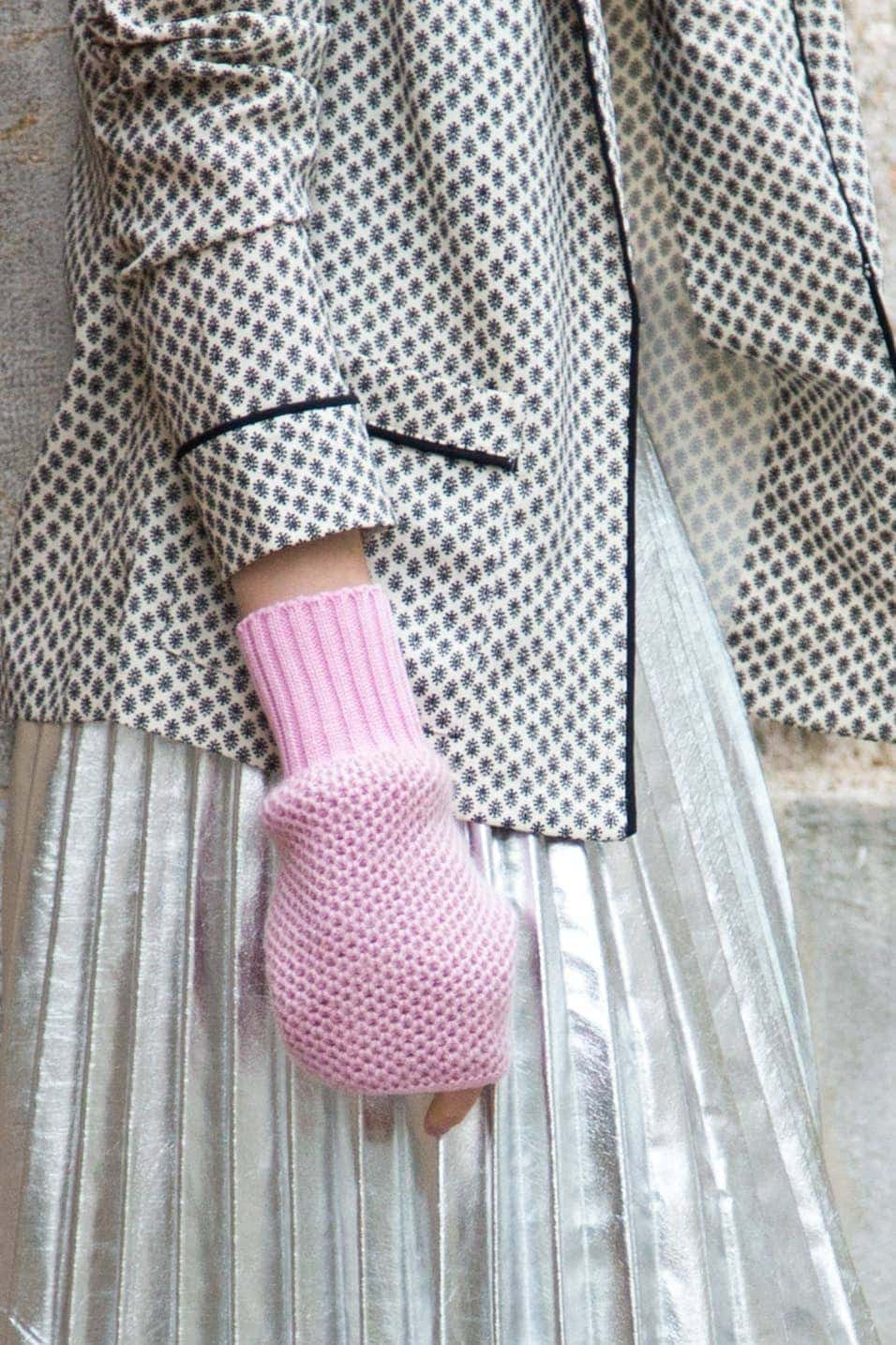 Fingerless Mittens - Candy Pink