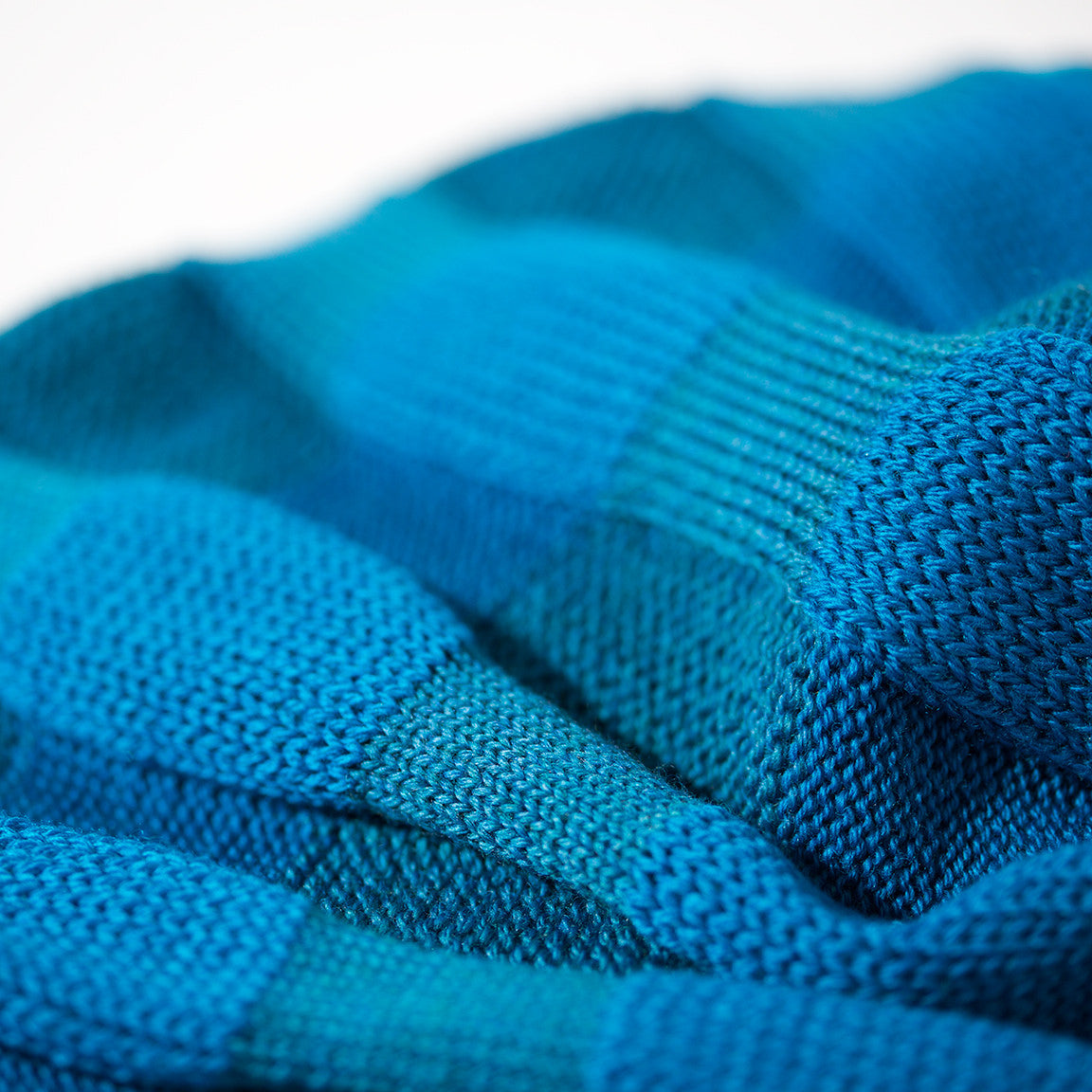 Iris Beanie - Electric Blue & Teal