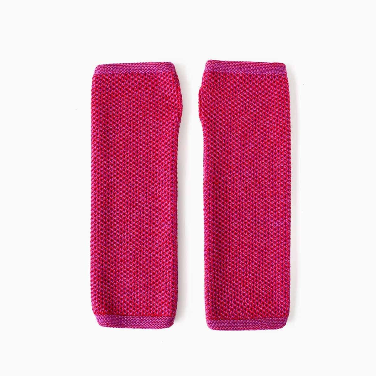 Knit Hand Warmers - Scarlet & Purple