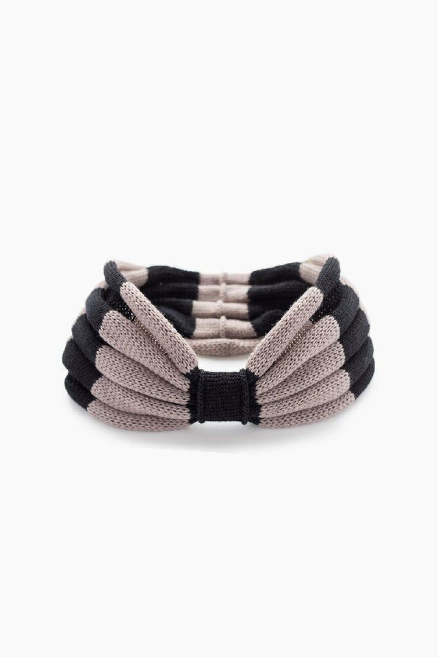 Iris headband -black & grey